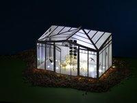 wintergarten bausatz h0 mit gusseisernen m beln modellbau kaufhaus. Black Bedroom Furniture Sets. Home Design Ideas
